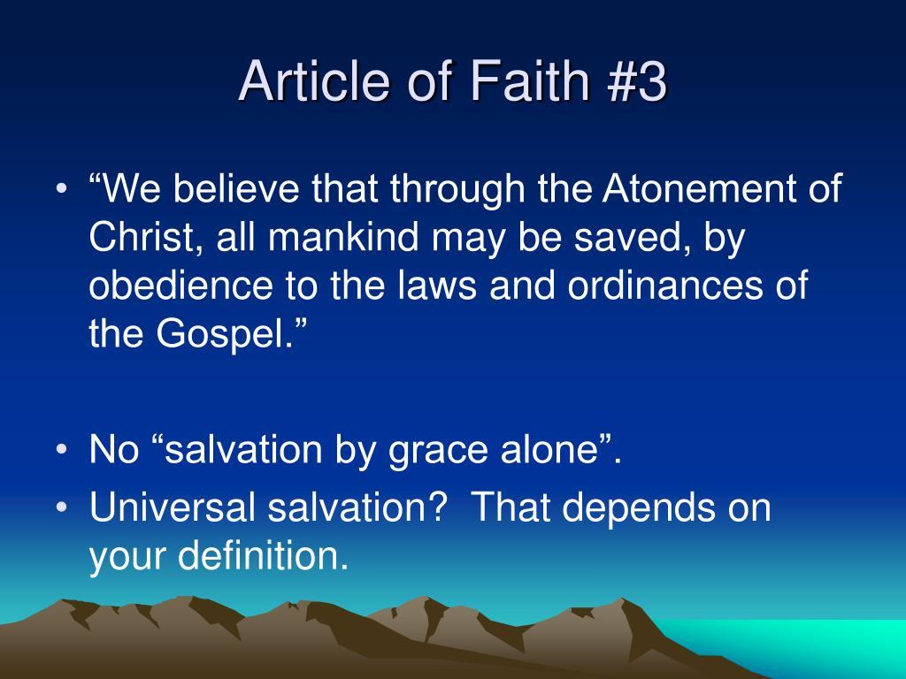 Article of Faith #3