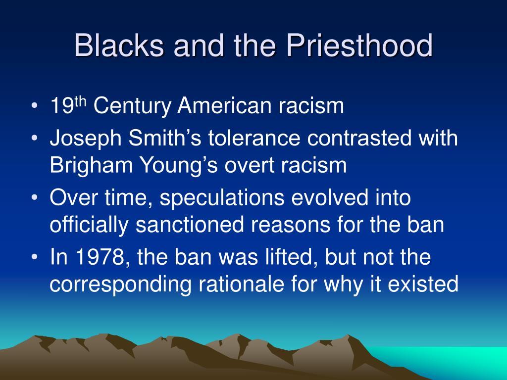 Blacks and the Priesthood