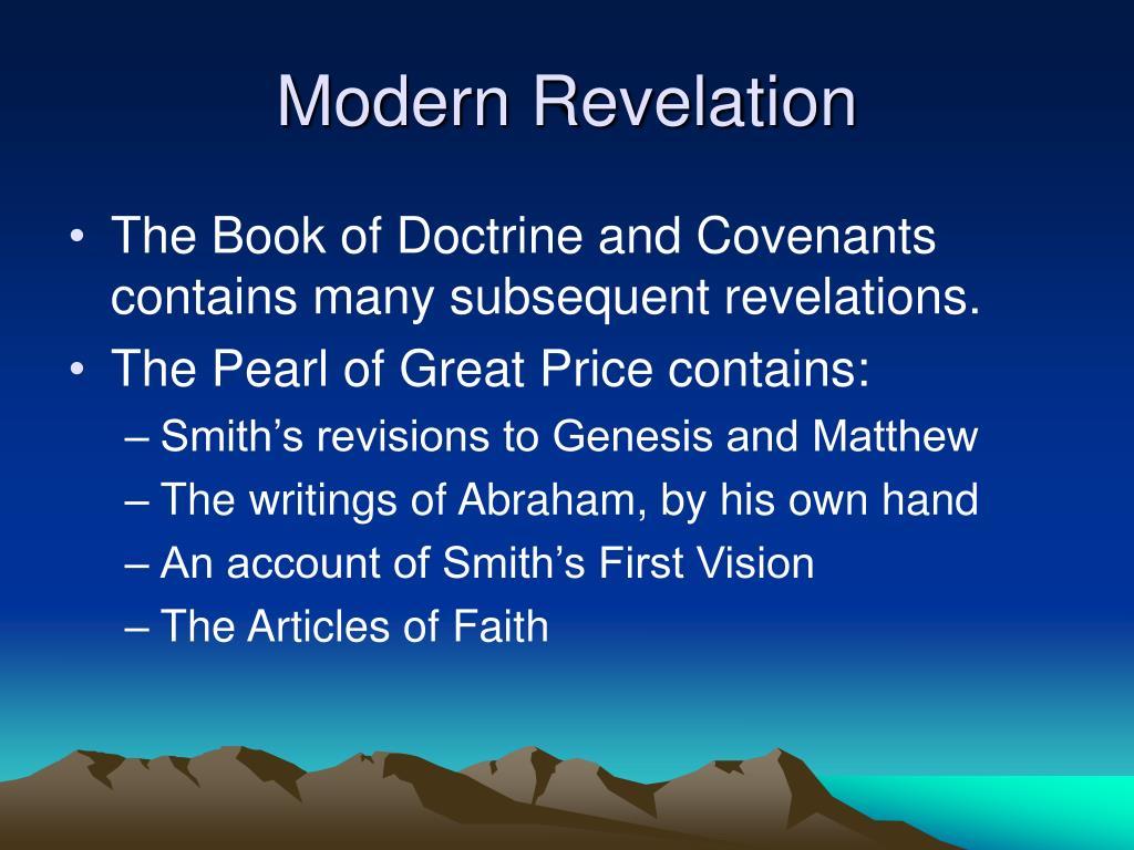 Modern Revelation