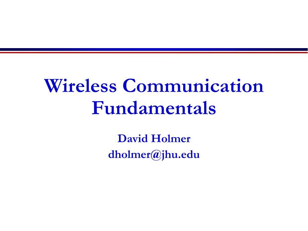 Wireless Communication Fundamentals