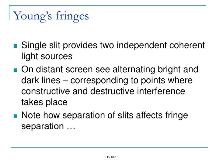 Young's fringes