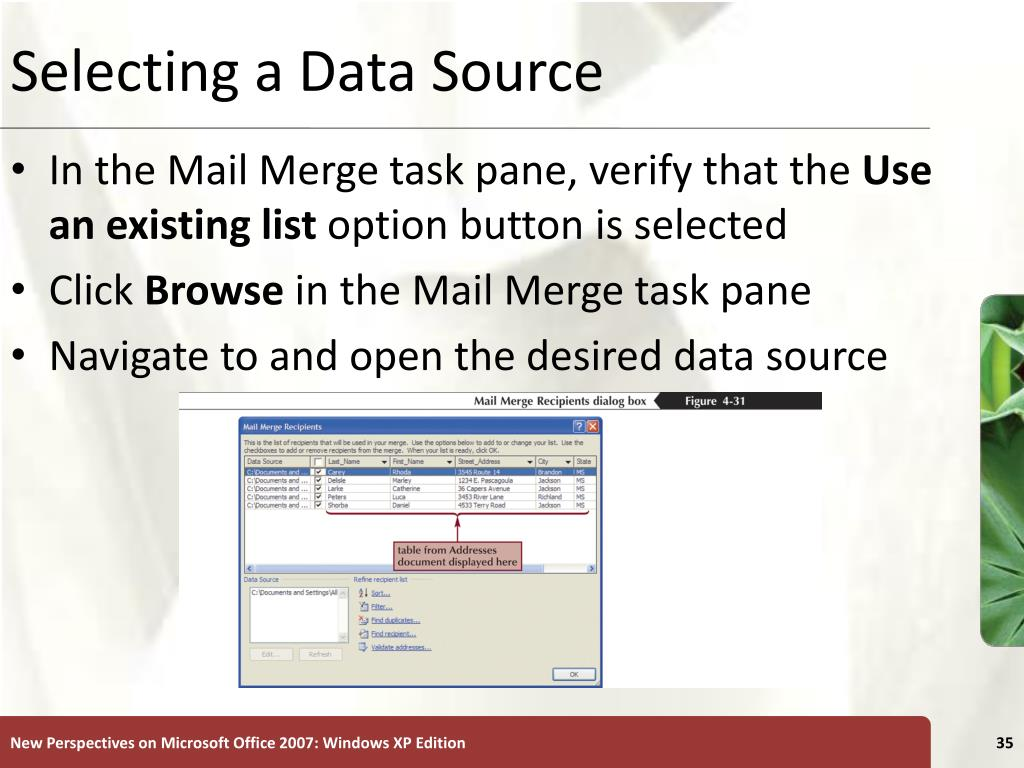 Selecting a Data Source