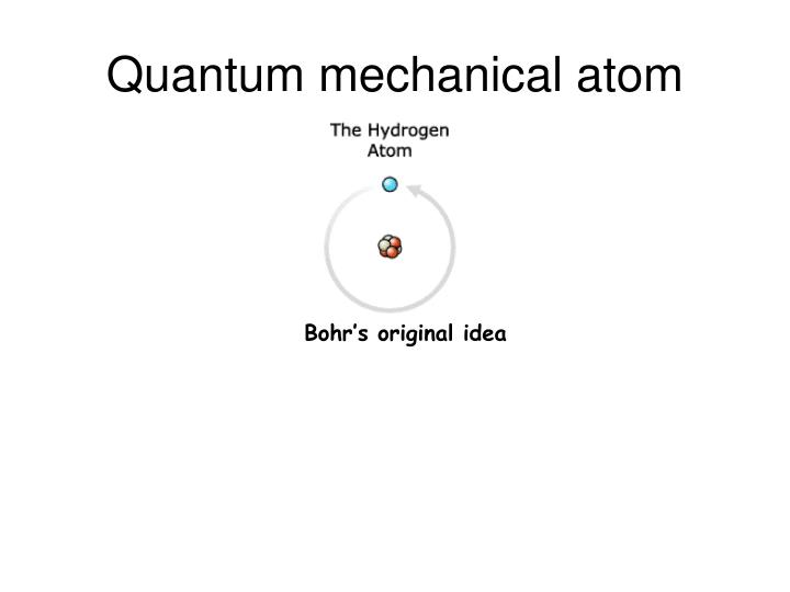 Quantum mechanical atom