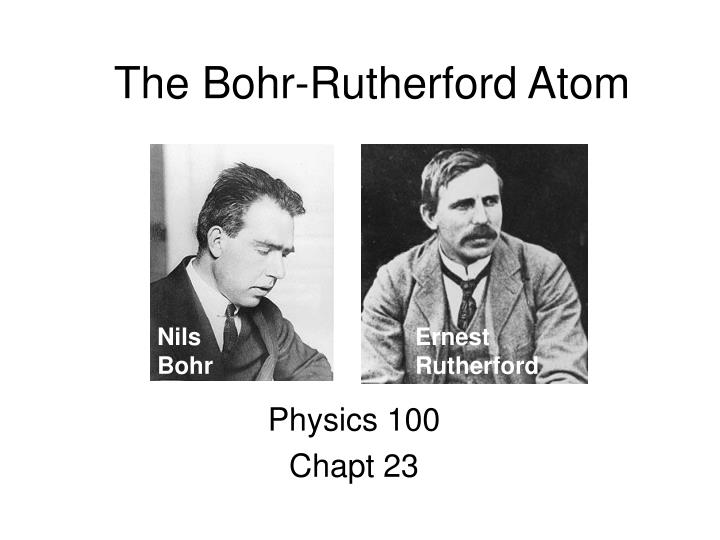The bohr rutherford atom