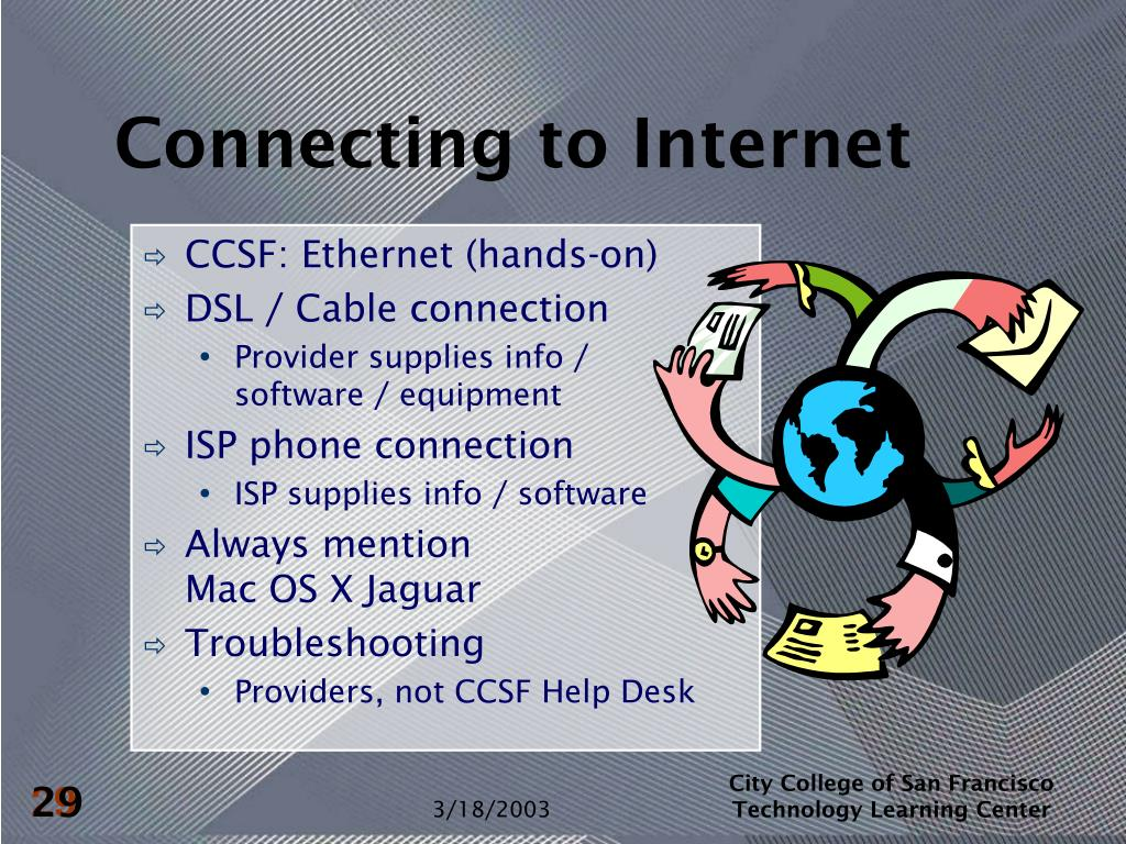 Connecting to Internet