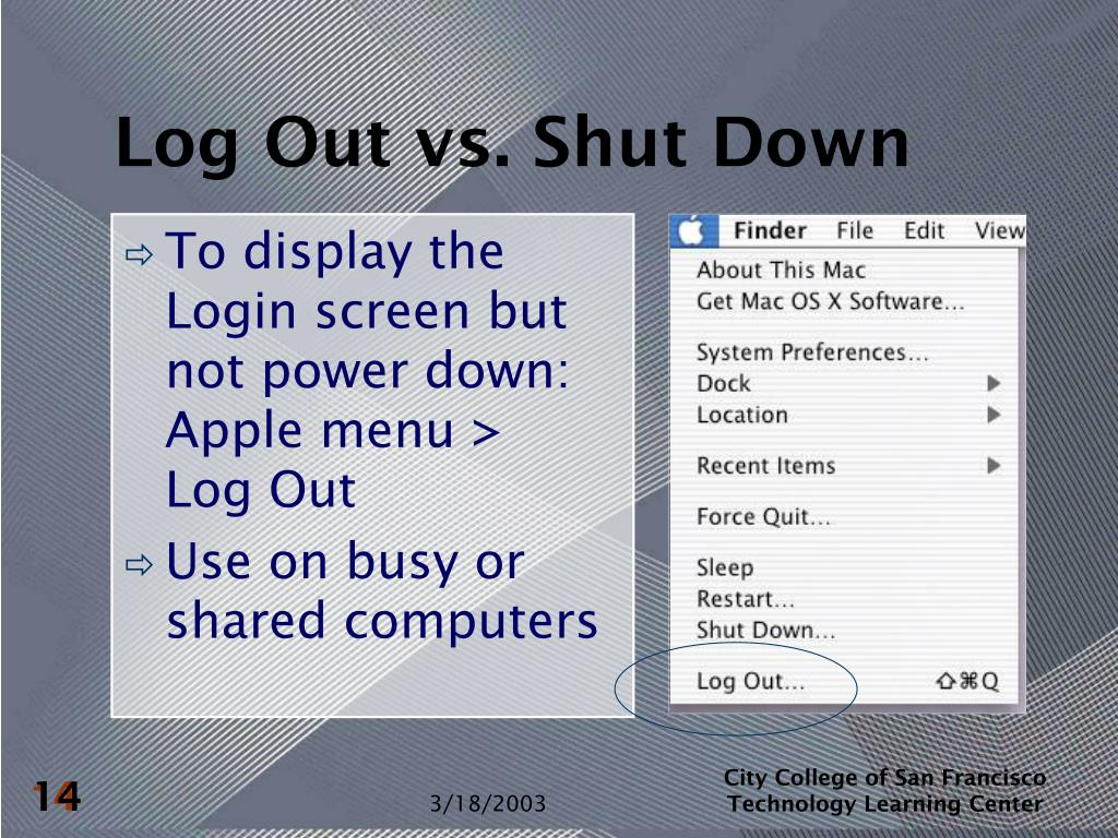 Log Out vs. Shut Down