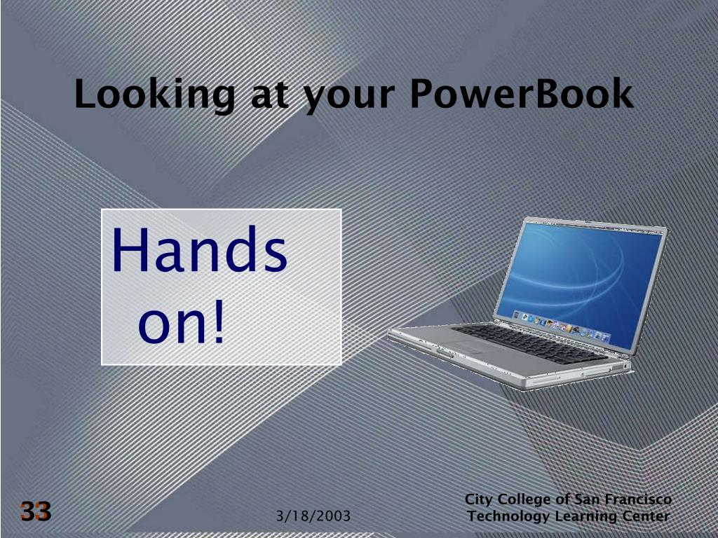 Looking at your PowerBook