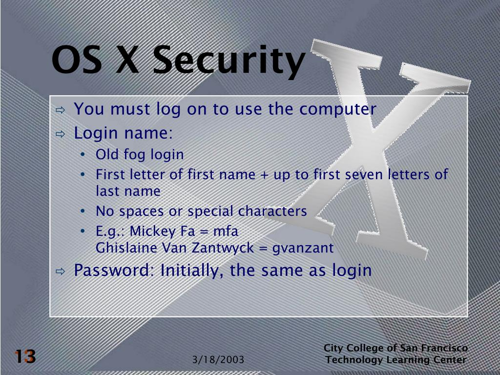 OS X Security