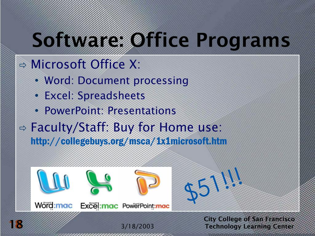 Software: Office Programs