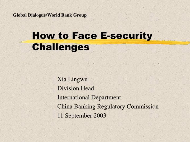How to face e security challenges