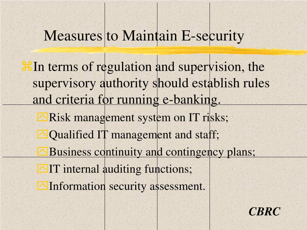 Measures to Maintain E-security