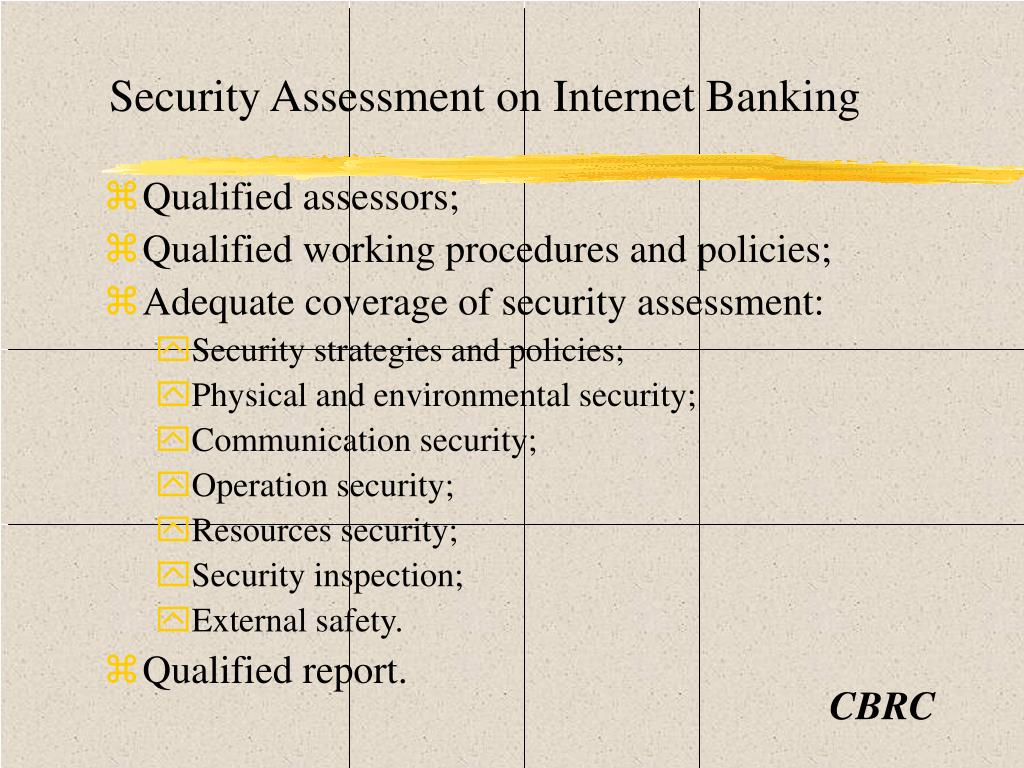 Security Assessment on Internet Banking