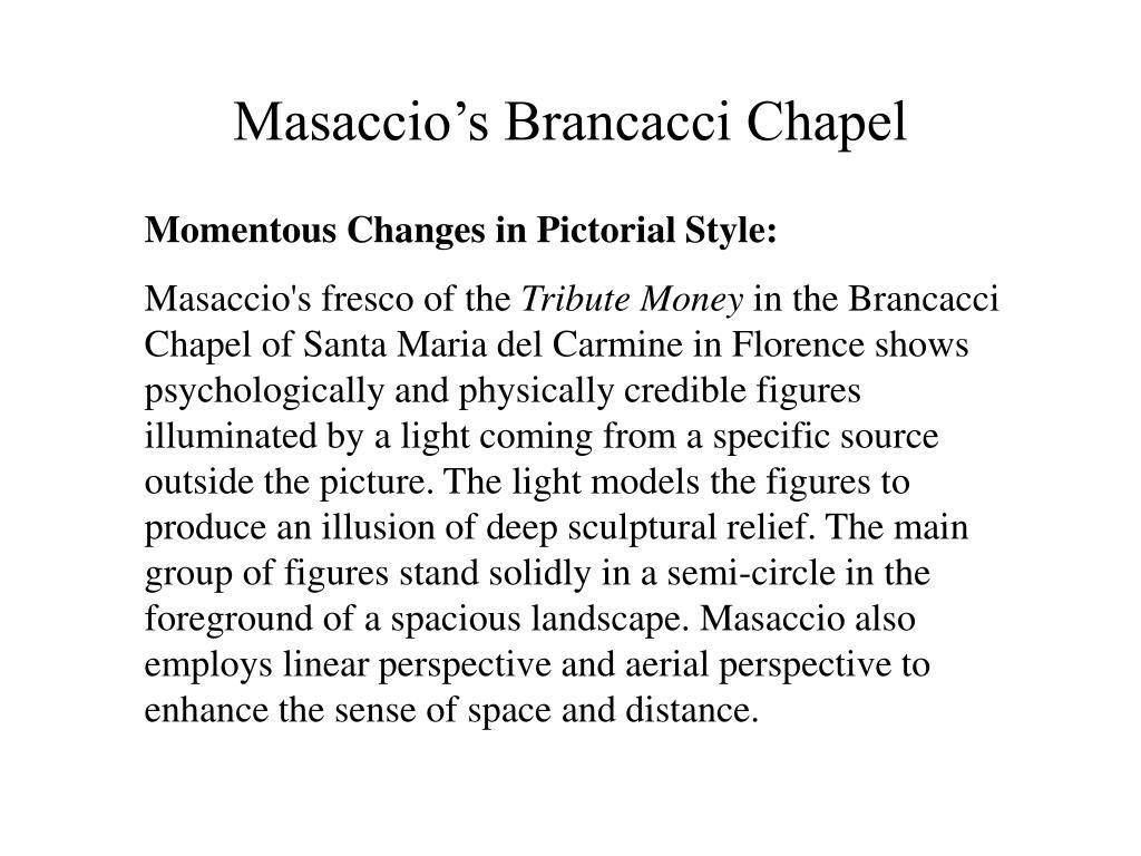 Masaccio's Brancacci Chapel