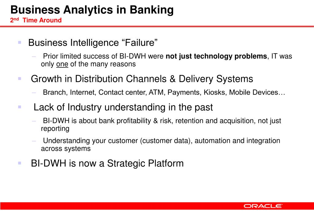 Business Analytics in Banking
