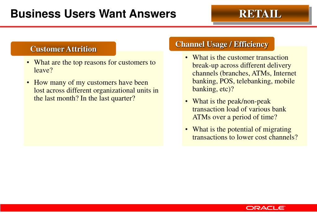 Business Users Want Answers