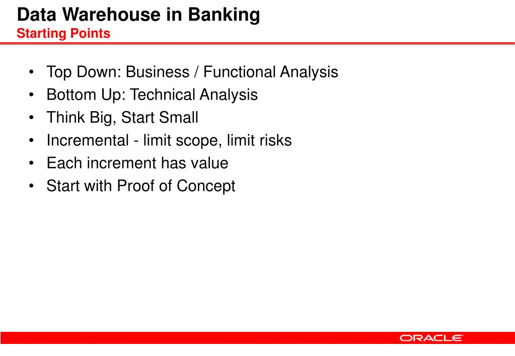 Data Warehouse in Banking