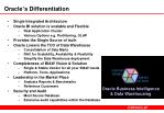 oracle s differentiation