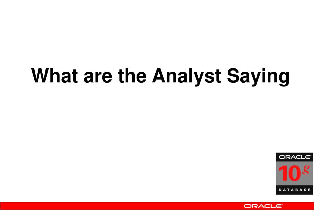 What are the Analyst Saying