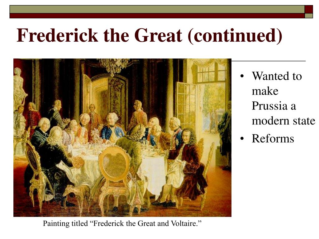 Frederick the Great (continued