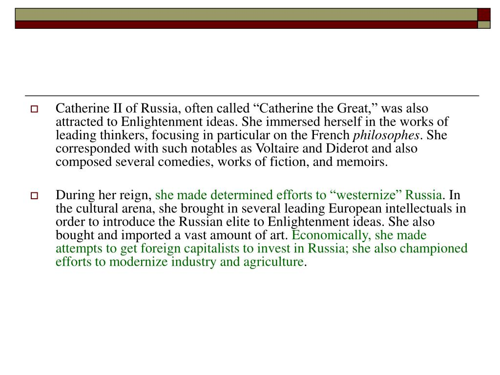 Catherine II of Russia,