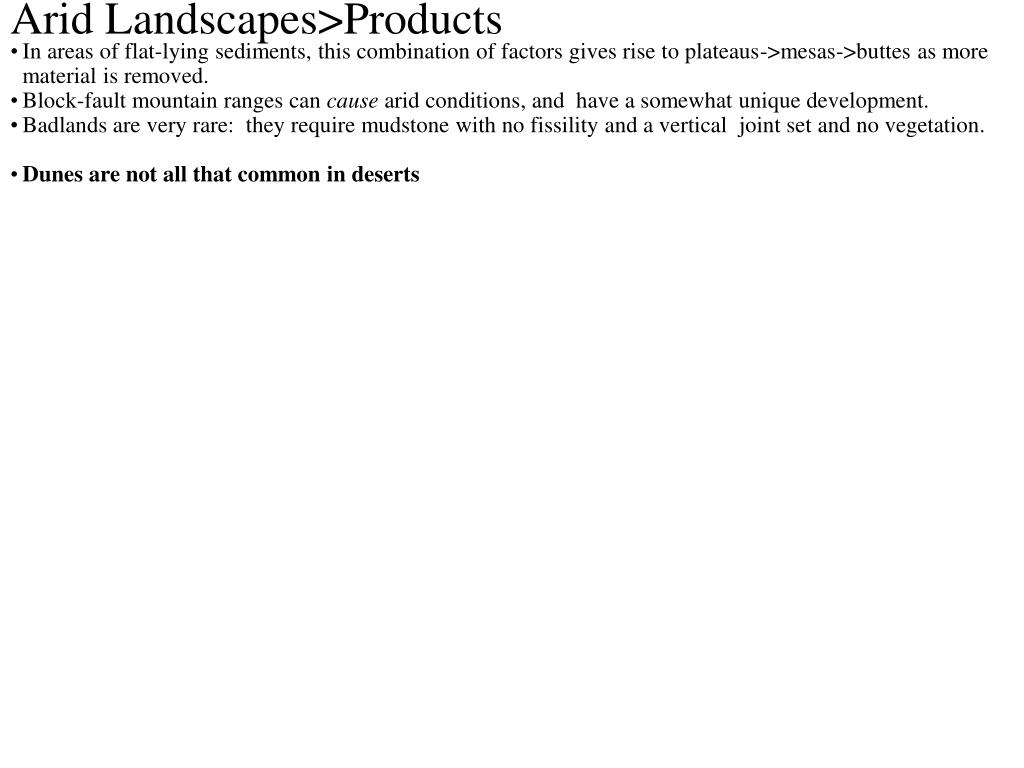 Arid Landscapes>Products