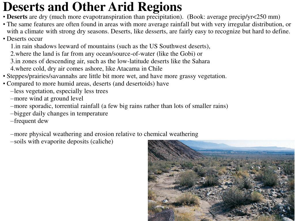 Deserts and Other Arid Regions