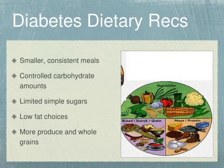 Diabetes Dietary Recs
