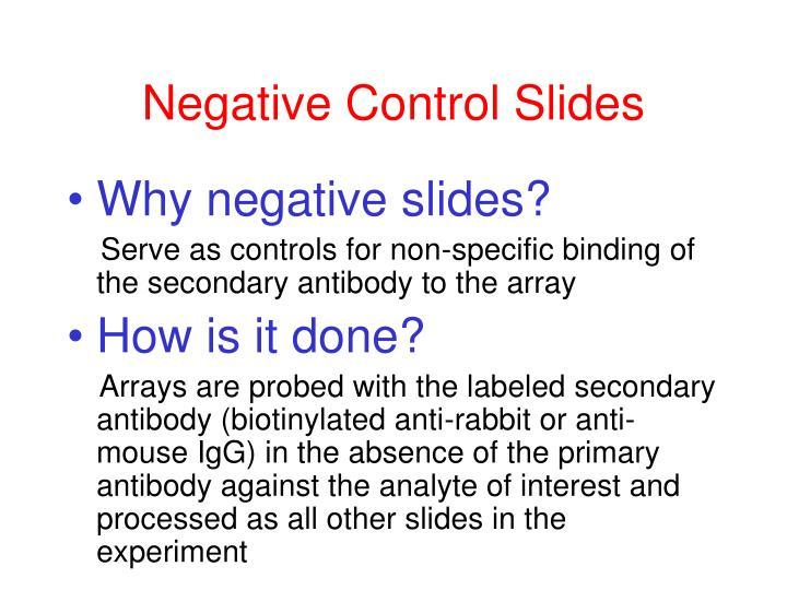 Negative Control Slides