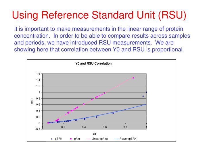 Using Reference Standard Unit (RSU)