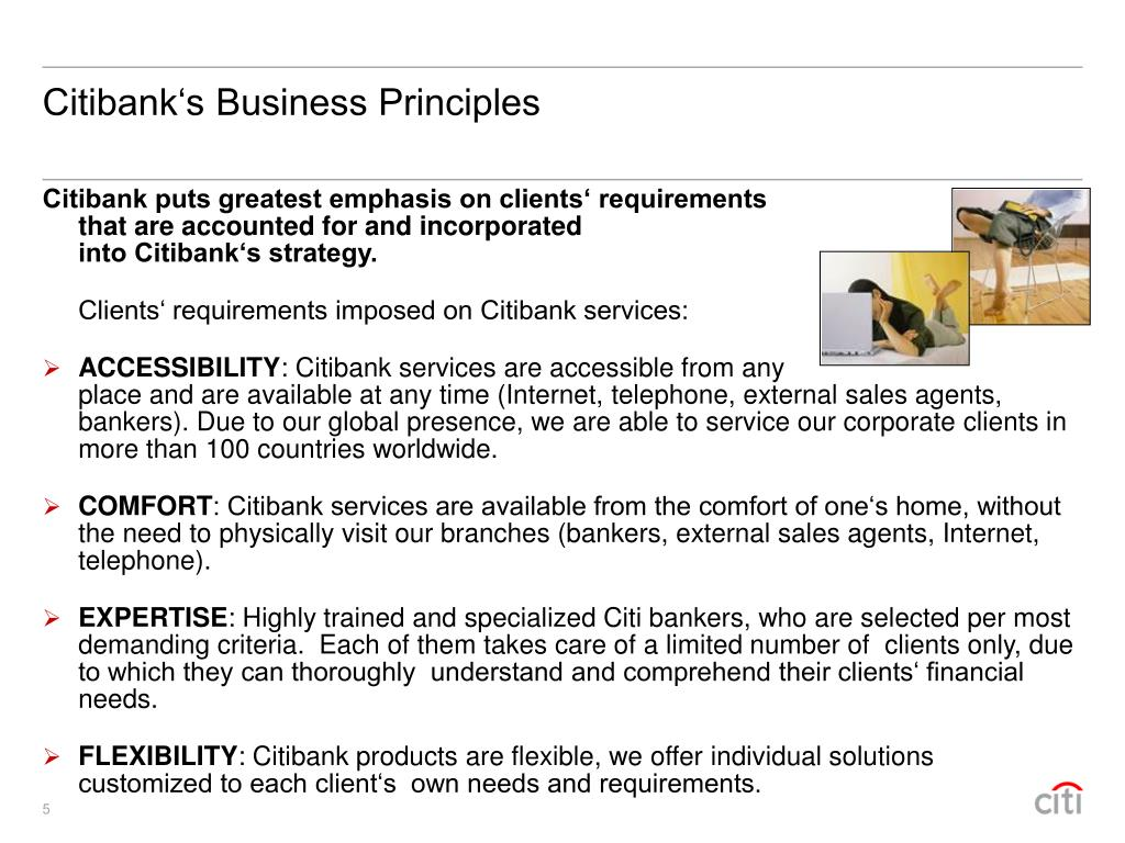 Citibank's Business Principles
