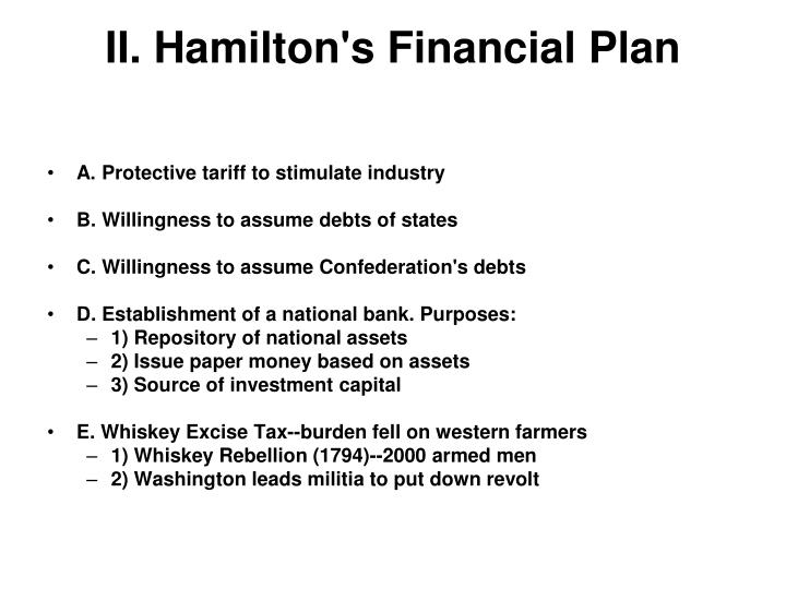 II. Hamilton's Financial Plan