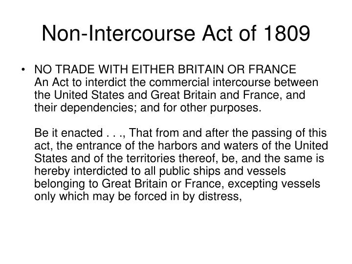Non-Intercourse Act of 1809