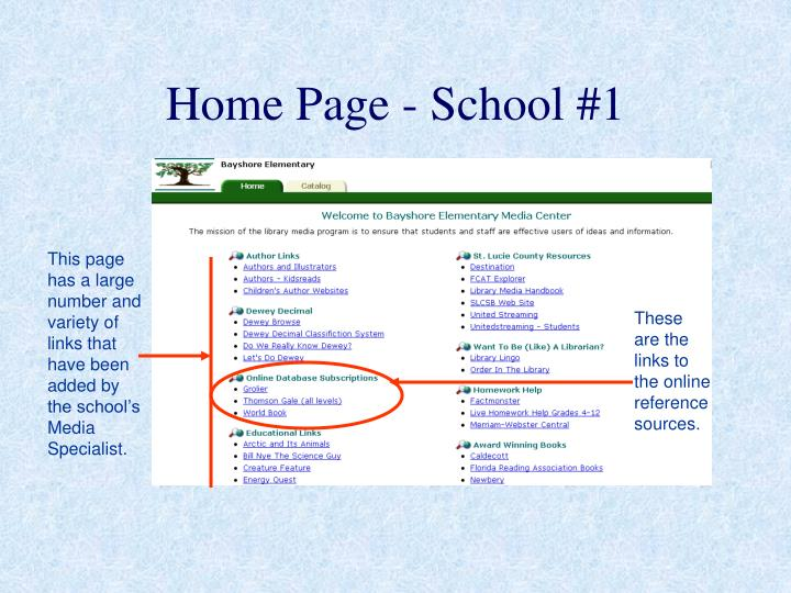 Home Page - School #1