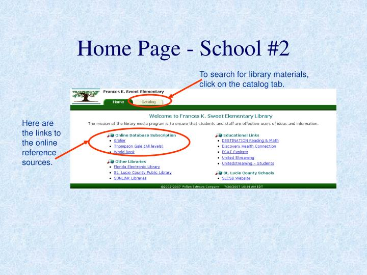 Home Page - School #2