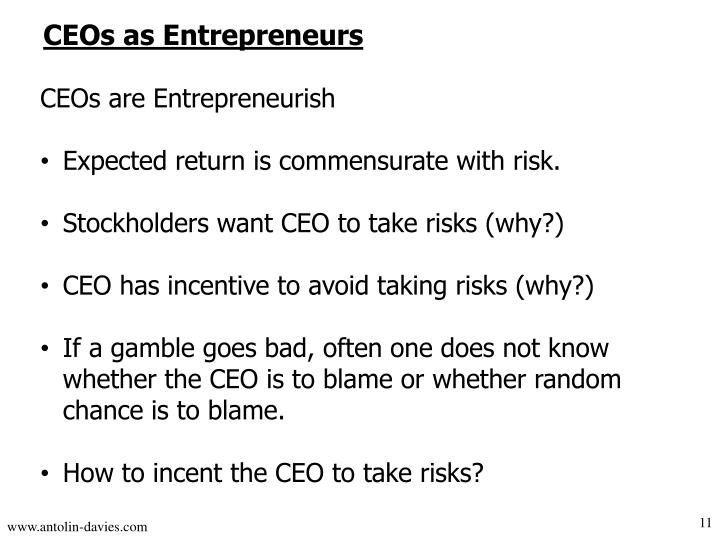 CEOs as Entrepreneurs