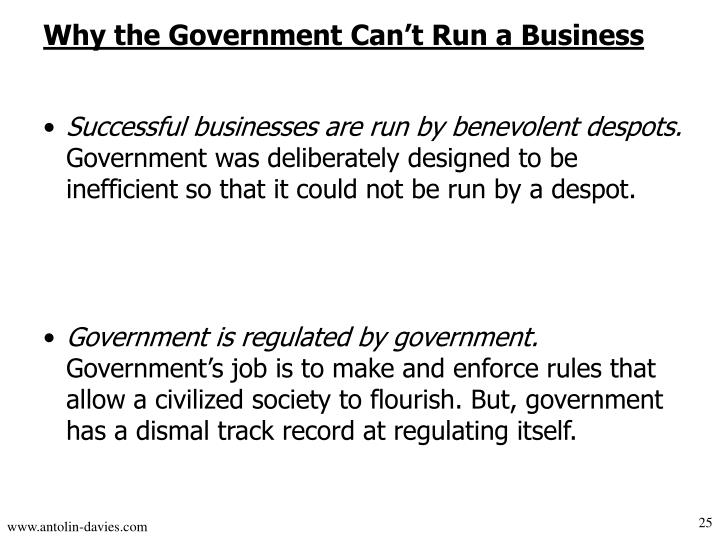 Why the Government Can't Run a Business
