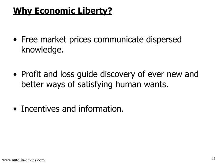 Free market prices communicate dispersed knowledge.