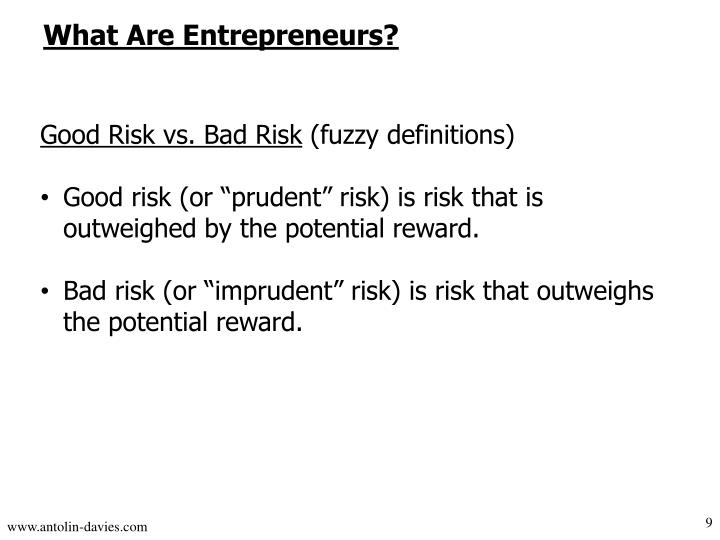 What Are Entrepreneurs?