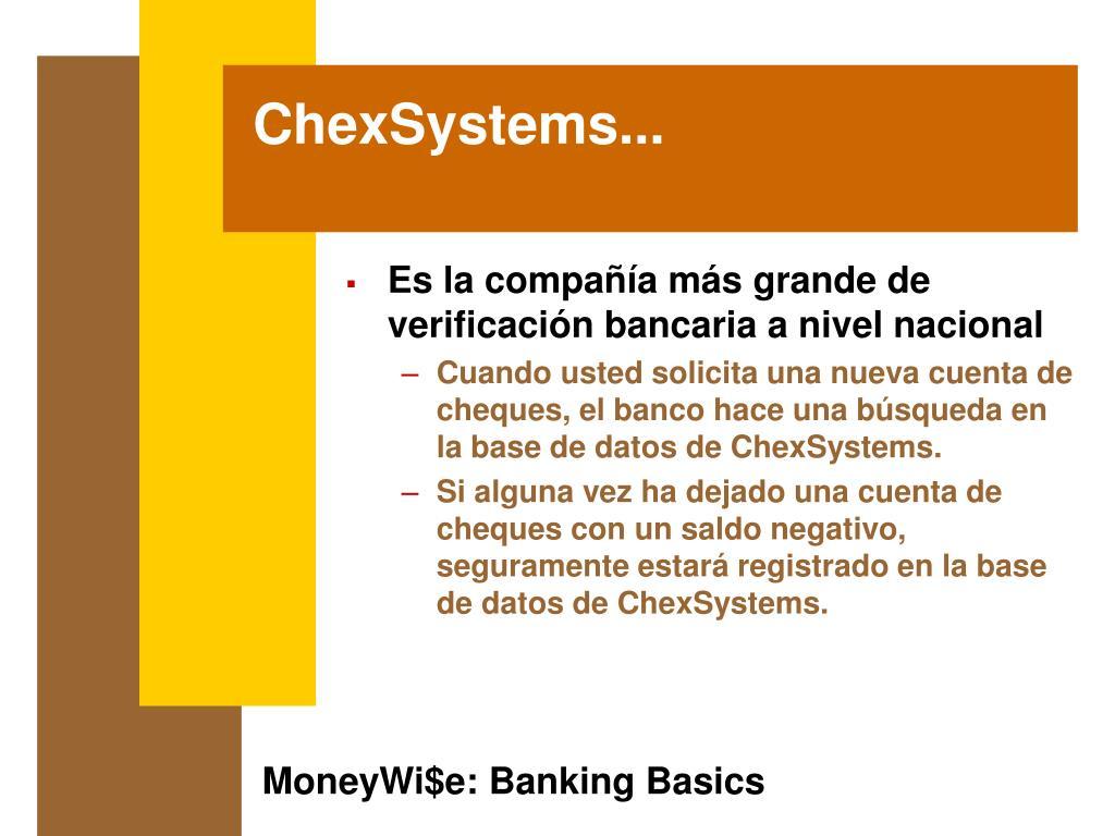 ChexSystems...