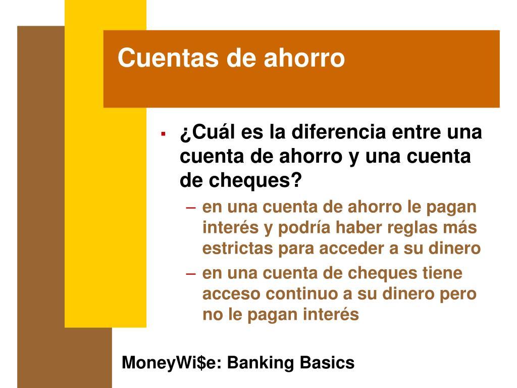 Cuentas de ahorro