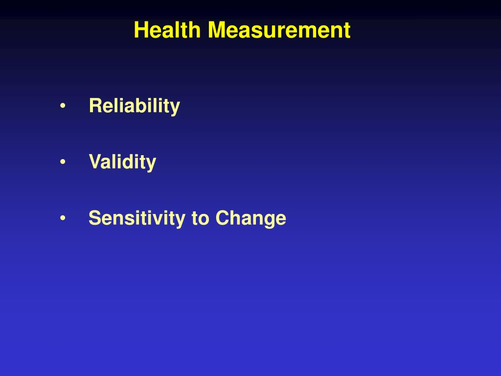 Health Measurement