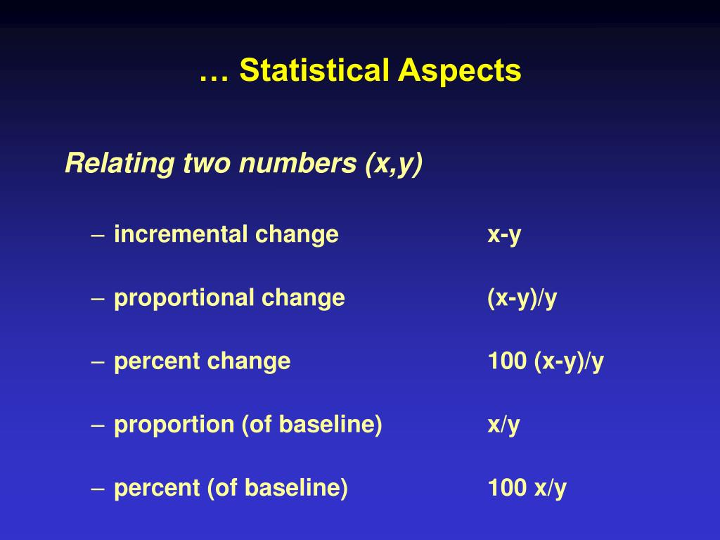 … Statistical Aspects