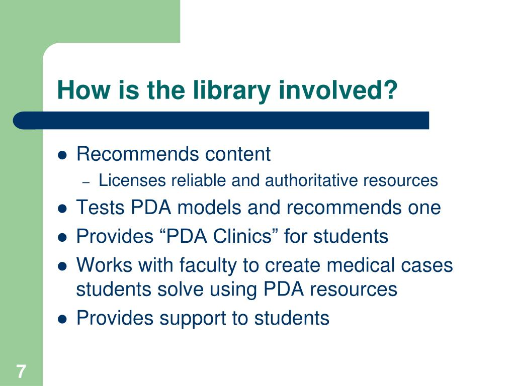 How is the library involved?