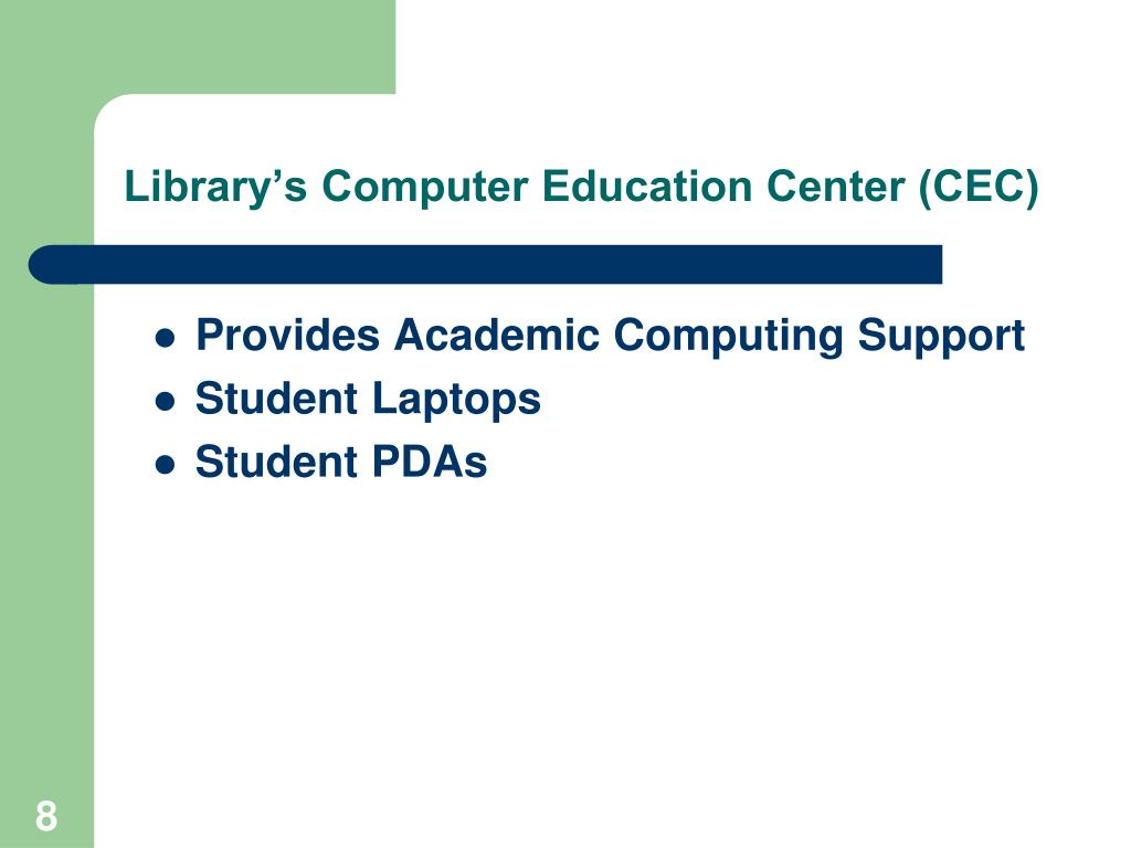 Library's Computer Education Center (CEC)