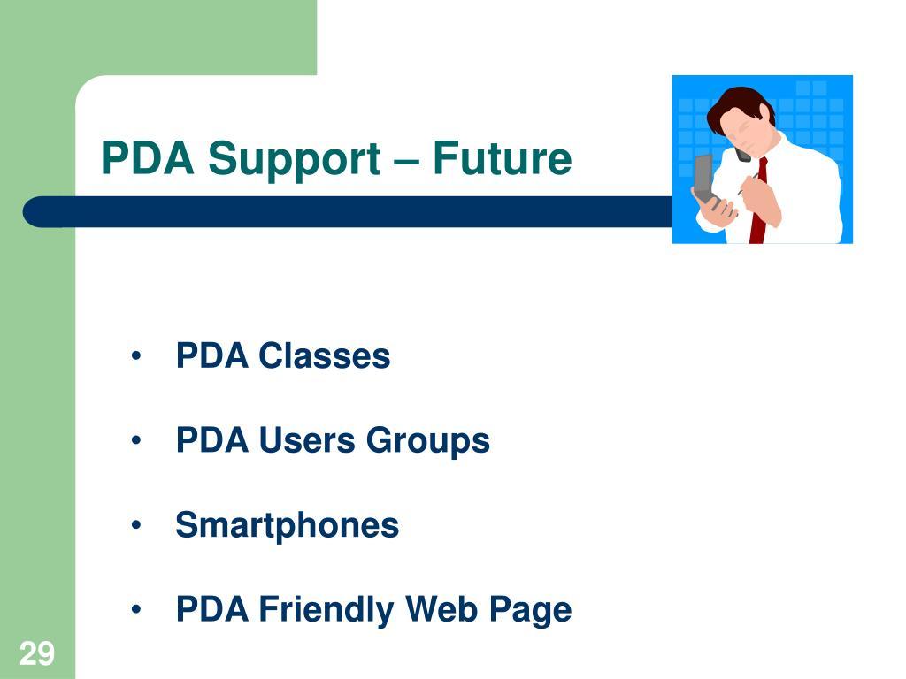 PDA Support – Future