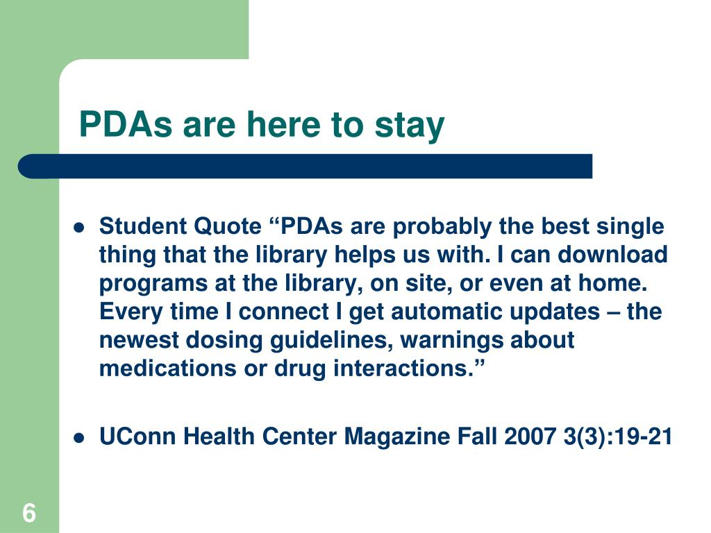 PDAs are here to stay