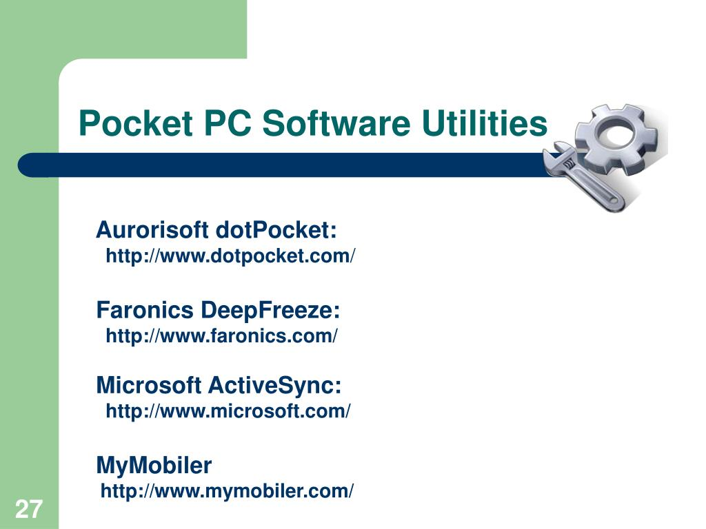 Pocket PC Software Utilities