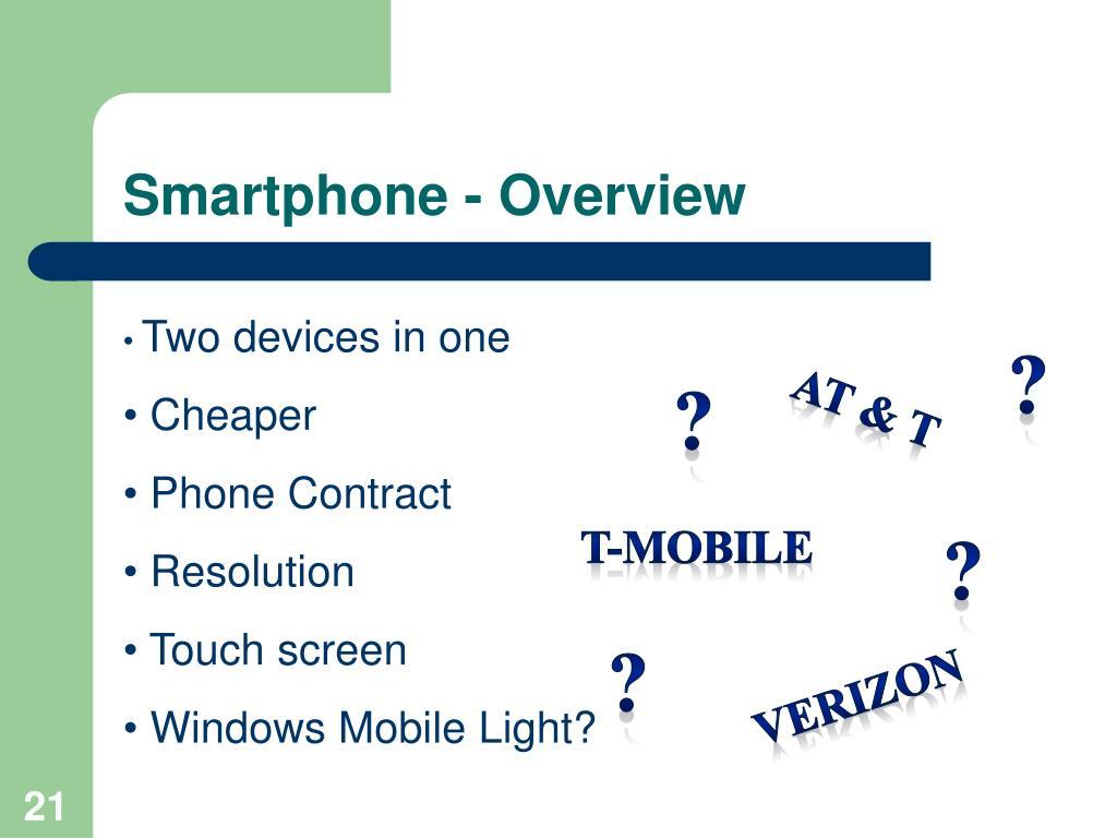 Smartphone - Overview