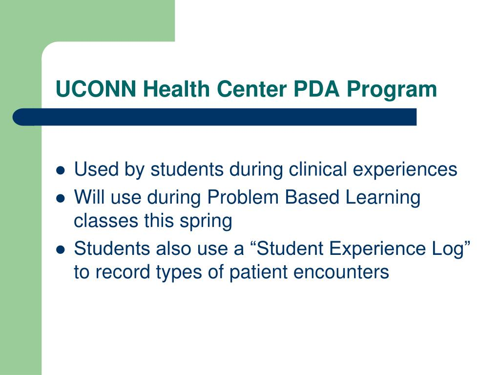 UCONN Health Center PDA Program
