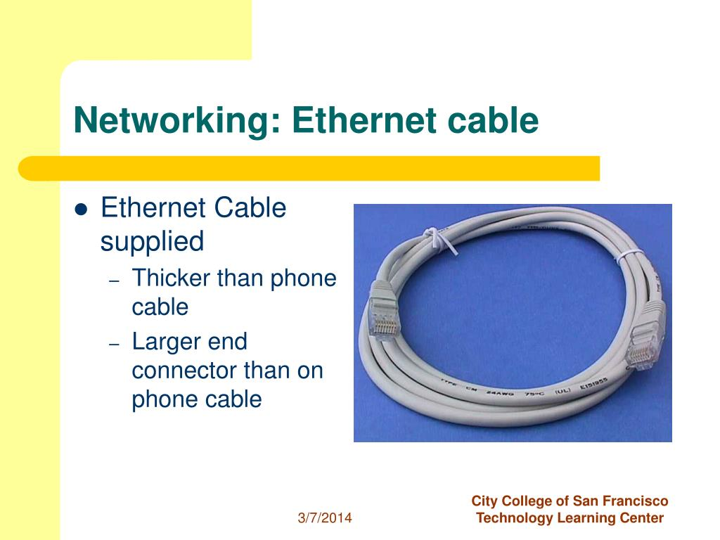 Networking: Ethernet cable
